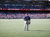 Padres Ryan Ludwick Stands In Right Field