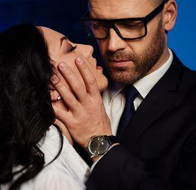 foto of office romance  - Couple close - JPG