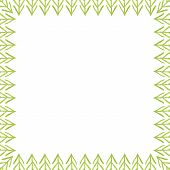picture of primitive  - Abstract frame made up of primitive trees - JPG