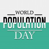 stock photo of population  - illustration of a stylish text for World Population Day - JPG