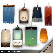 Set of Blank Tags of Different Materials - Detailed Vector Set 01