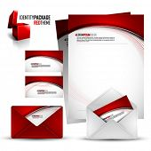 Identity Kit | Red Package | EPS10 Compatibility needed | All elements are on separate layers named