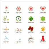 set of graphic icons