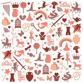 pic of magic-wand  - vector icons pattern  - JPG