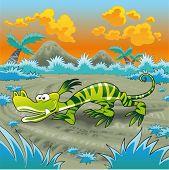Funny lizard