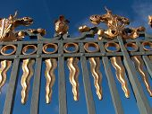 A Piece Of A Golden Palace Gate