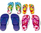 Colorful Flip Flops - family vacation