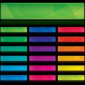 image of colorful banner  - Set of color banners - JPG