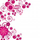 Vector. Pink flower. Floral background. To see similar, please visit MY PORTFOLIO.