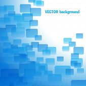 Blue air vector background with sunshine