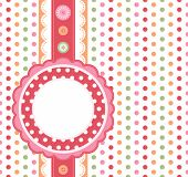 Polka dot design frame