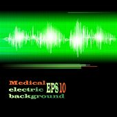 ECG Electrocardiogram medical background. Vector.
