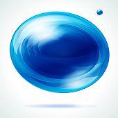 Vivid blue bubble.