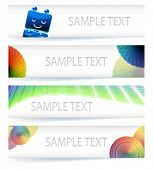 Multicolor Farbumfang Banner-Design im eps10-vektor-Format.