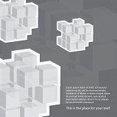 Cube-Vorlage-Hintergrund