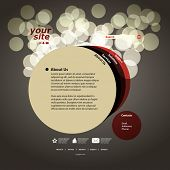 Abstract web site design template vector