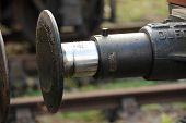 Old Railway Buffer In Detail