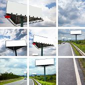 the concept of the billboard outdoor.