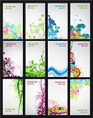 stock photo of colorful banner  - Set of colorful business cards - JPG