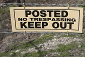 Posted No Trespassing