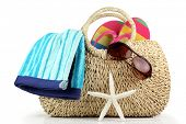 Beach Bag with Towel,Sunglasses and Flip Flops