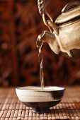 China tea serving,Shallow Dof.