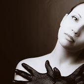 Retrato de mulher bonita. Foto de arte moda