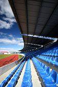 Empty stadium (Laugardalsvollur in Iceland)