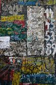 Background of the cold war symbol, the Berlin wall in Germany