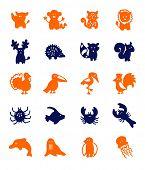 color block icons - animals 2