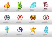 Signs icons - illustrations - icons set -