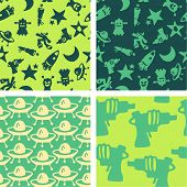 SF seamless pattern