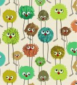 stock photo of naturel  - monsters pattern - JPG