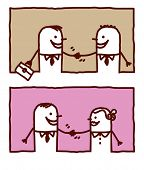 bevolking handshakes