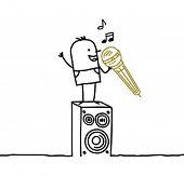 Mann & karaoke