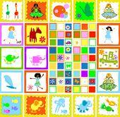 children playing, kids world illustration