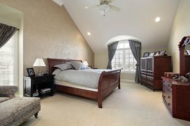 stock photo of master bedroom  - Master bedroom - JPG