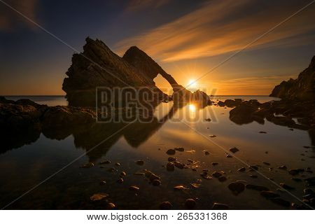 Bow Fiddle Rock Reflection In
