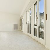 refitted empty apartment in historic center