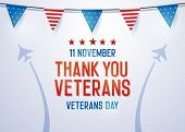 Thank You Veterans Background. Vector Illustration For Veterans Day 11 November National Holiday In  poster
