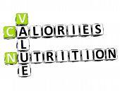 3D Value Calories Nutrition Crossword