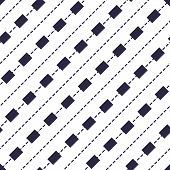 Minimal Dashed Lines Vector Seamless Pattern, Abstract Background. Simple Geometric Design. Seamless poster