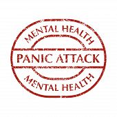 In Red Color Grunge Stamp With Text Panic Attack. Mental Disorder Panic Attack. Isolated Vector Illu poster
