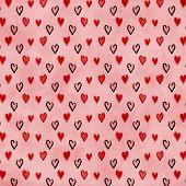 Pink Hearts Love Valentine Background