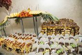 Candy Bar. Table With Sweets, Candies, Dessert. poster