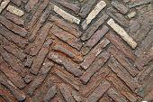 Floor Of Chevron Pattern