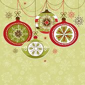 picture of christmas cards  - Retro Christmas Ornaments - JPG