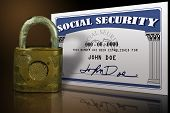 stock photo of social-security  - Mock up of a Social Security Card done in photoshop - JPG