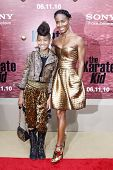 LOS ANGELES - JUNE 7: Jada Pinkett Smith and daughter Willow at the premiere of 'The Karate Kid' at the Mann Village Theater on June 7, 2010 in Los Angeles, California