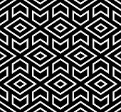 The Geometric Pattern With Lines. Seamless Background. White And Black Texture. Graphic Modern Patte poster